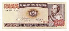 Bolivia 5000 pesos 1984  FDS  UNC   pick 168  rif 2696