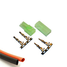 1 PAIR RC Mini Tamiya Battery Male/Female Connector Heatshrink Car Airsoft Ni-MH