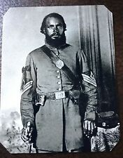 Civil War Military African American Soldier TinType C249SP