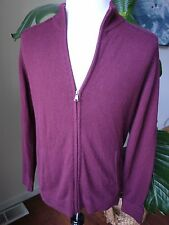 ben sherman sz4 XL burgundy zip sweater cashmere blend