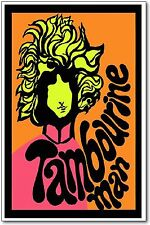 Bob Dylan Poster, Tambourine Man, Psychedelic Art Print, 11x17, NEW REPRINT