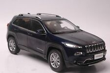 Jeep Cherokee car model in scale 1:18 blue