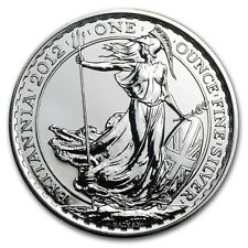 British Royal Mint UK £2 Britannia 2012 1 oz .958 Silver Coin