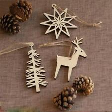 Wooden Christmas Snowflake Reindeer Tree Party Decoration Holiday 3pcs/set POP