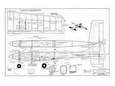 RCM Tweedy Bird Full Size Model Airplane Kit Printed Plans & Rib Templates
