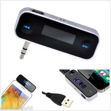 Portable 3.5mm In-car FM Transmitter Radio Audio Mobile Phone Adapter For iPhone