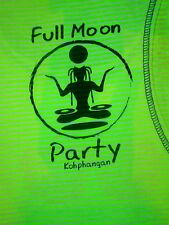 VTG Full Moon Party Men Tank Singlet T-shirt XL KOH PHANGAN Thailand neon hivis