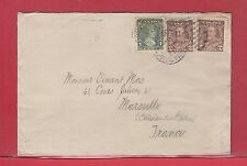 1935 Canada to FRANCE double weight surface rate 3c + 2c, cover wit receiver