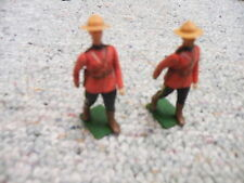 Britains 1/32 54mm Eyes Right RCMP Royal Canadian Mounties x2 Lot 4