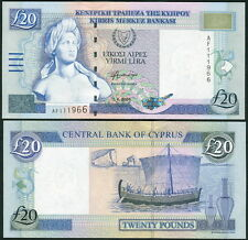 Cyprus 20 Pounds 2004 P63c UNC**New Date