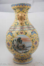 18thC? Famille Rose Gilt Porcelain Vase Qing Dy Yongzheng Period with Dynasty St
