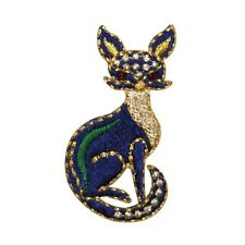 ID 0734 Cat Kitty Animal Embroidered Iron On Applique Patch