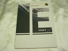 2014 Lotus EXIGE S Coupe & Roadster & V6 CUP Brochure Prospekt ENGLISH Rare 40p