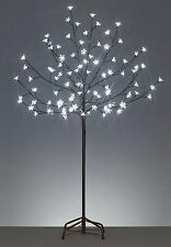 4' LED Lighted Cherry Blossom Flower Tree - Pure White Lights