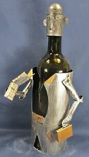 Wine Bottle Caddy Lawyer with phone and breifcase,metal bar accessory