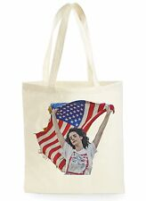 LANA DEL REY AMERICAN FLAG COOL SHOPPING CANVAS TOTE BAG IDEAL GIFT PRESENT