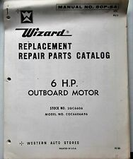 1968 WIZARD PARTS CATALOG 6 HP outboard motor