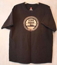 Men's ECHO AUDIO HANES Black Short Sleeved Graphic T-Shirt Size XL