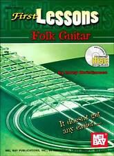 FIRST LESSONS BEGINNER FOLK GUITAR  BOOK + CD SET NEW