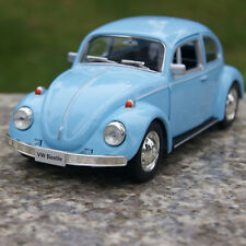 Blue Alloy Diecast Car Model 1967 Classic Vw beetle two doors can be opened