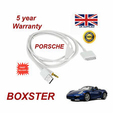PORSCHE BOXSTER CDR-31 Audio System iPhone 3GS 4 4S iPod USB & Aux Cable white