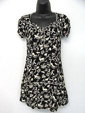 Kimchi Blue Urban Outfitters Size XS Black Beige Floral Mini Dress