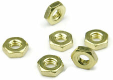Brass Machine Screw Hex Nuts UNC #8-32, Qty 100
