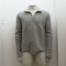 NEW Mens Balenciaga Grey Knit Zip Wool Cardigan GENUINE RRP: £635 - Size: M