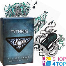 ELLUSIONIST FATHOM WATER BICYCLE PLAYING CARDS DECK MAGIC TRICKS USPCC SEALED