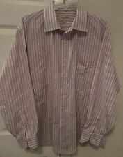 Tommy Bahama 100% Cotton Mens Long Sleeve Dress Shirt Size 17 34/35 Stripes