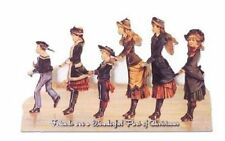 Victorian Turn Of The Century Greeting Card Ice Skating Friends Family #Grc158
