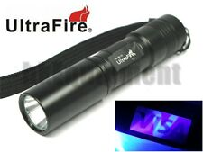 Ultrafire C3 CREE UV Ultraviolet 365nm AA LED Money Detector Cheque Flashlight