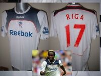 Bolton Wanderers RIGA Match Shirt Jersey Football Soccer Adult Large Reebok Worn