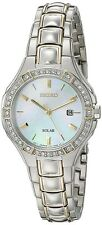 Seiko Core Solar Mother of Pearl Dial Ladies Watch SUT282