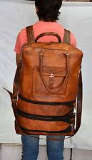 vintage leather messenger large hide soft luggage travel bag backpack briefcase