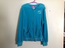 Girls Star Ride Hoodie Jacket SZ L 14-16  Turquoise & Silver Gently Used