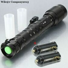 Tactical Military Grade Flashlight 5 Mode 3600LM T6 LED Waterproof  2x 18650 AAA