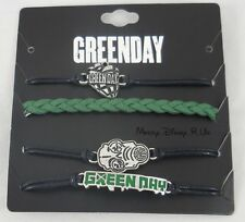 New Green Day Band American Idiot Cord Bracelet Set 4 Pack Arm Party Logo Charms