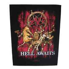 SLAYER Backpatch HELL AWAITS Sew-on back patch ♫ U.S.Thrash Metal ♫