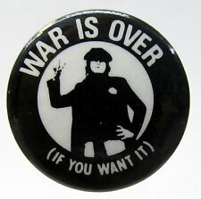 John Lennon WAR IS OVER (IF YOU WANT IT) pinback button