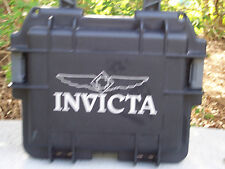 New Invicta Impact-Resistant Three-Slot Watch Collector Black Box