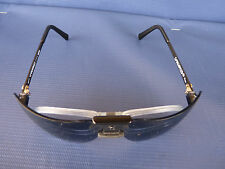 NOS Vtg. Gargoyles Terminator Black Frame Blue 85mm Sunglasses USA w/Pop Insert