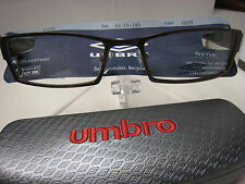 UMBRO  EYEGLASSES FRAME U102  BROWN   56-19-145  DEMO   WITH CASE AUTHENTIC