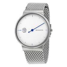 Skagen Ancher Silver Dial Mens Stainless Steel Watch SKW6193