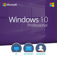 Windows 10 Professional 32/64 Bit VOLLVERSION Win Pro KEY Lizenz DEUTSCH
