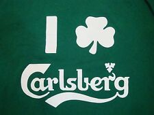 I Love  3 Carlsberg Irish Beer Pub Ireland Green St. Patrick's T Shirt XL