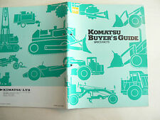 GROS Catalogue KOMATSU BUYER'GUIDE Gamme Dumper  Bulldozer camion  brochure   TP