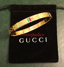 Gucci Bangle Women's Vintage Gold Size 18 cm Brand New