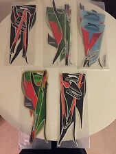 Slazenger Cricket Bat Stickers - 5 Sets