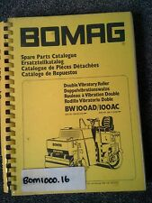 BOMAG DOUBLE VIBRATORY ROLLER  BW100AD/100AC CATALOGUE PARTS  BOOK